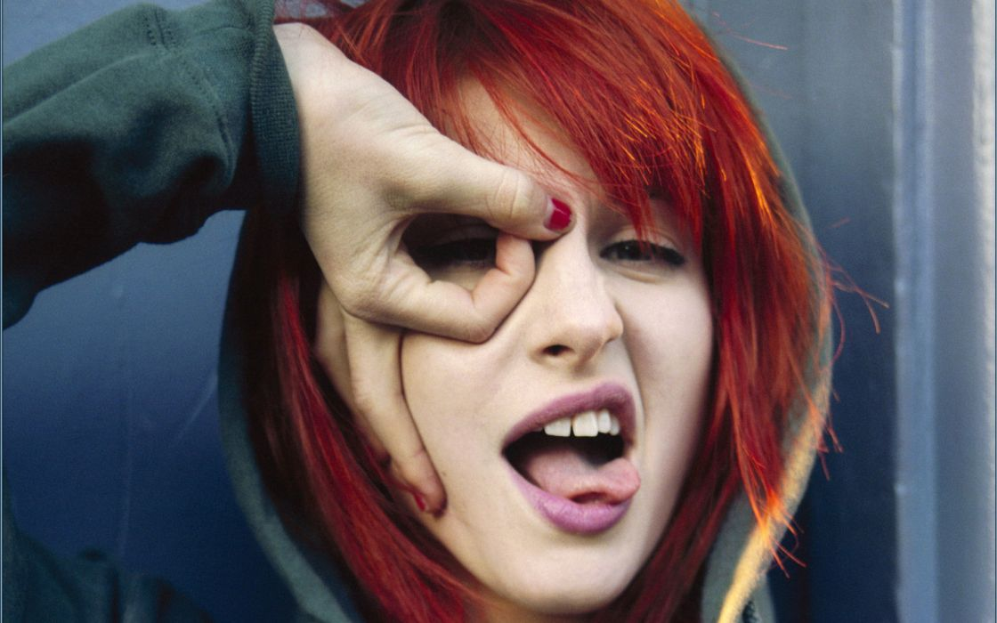 Hayley williams paramore women music redheads celebrity tongue singers wallpaper