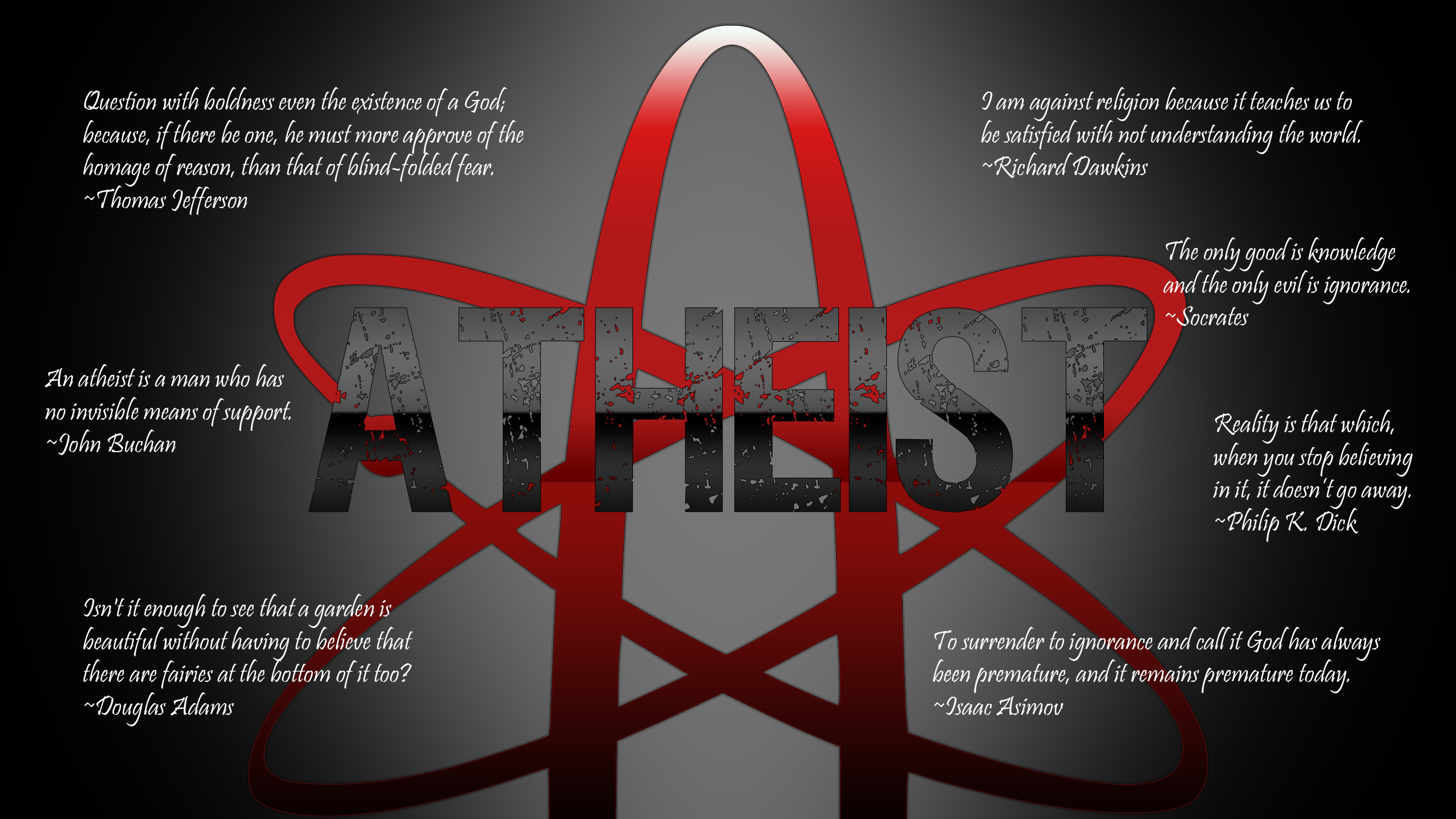 text quotes atheism wallpaper 2560x1440 14620