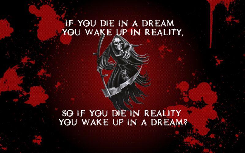 Death blood grim reaper scythe die dreams reality sleeping time wallpaper