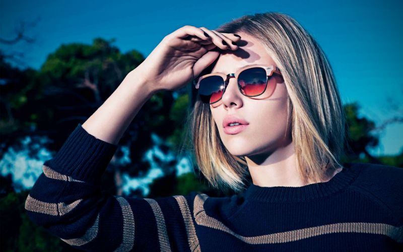 Up scarlett johansson actress celebrity sunglasses jumper faces wallpaper