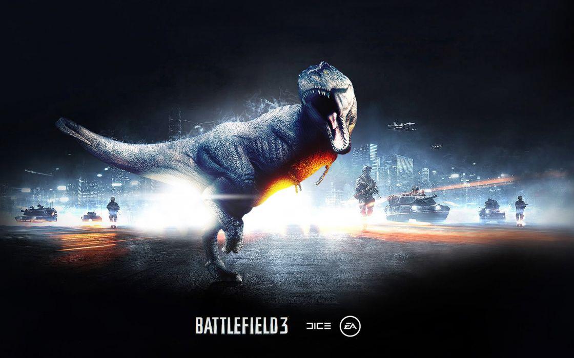 Video games battlefield battlefield 3 tyrannosaurus rex wallpaper