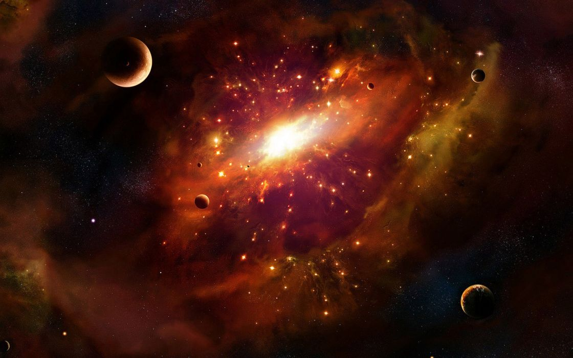 Outer space the universe journey wallpaper