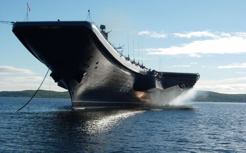 Military russian ships vehicles aircraft carriers wallpaper