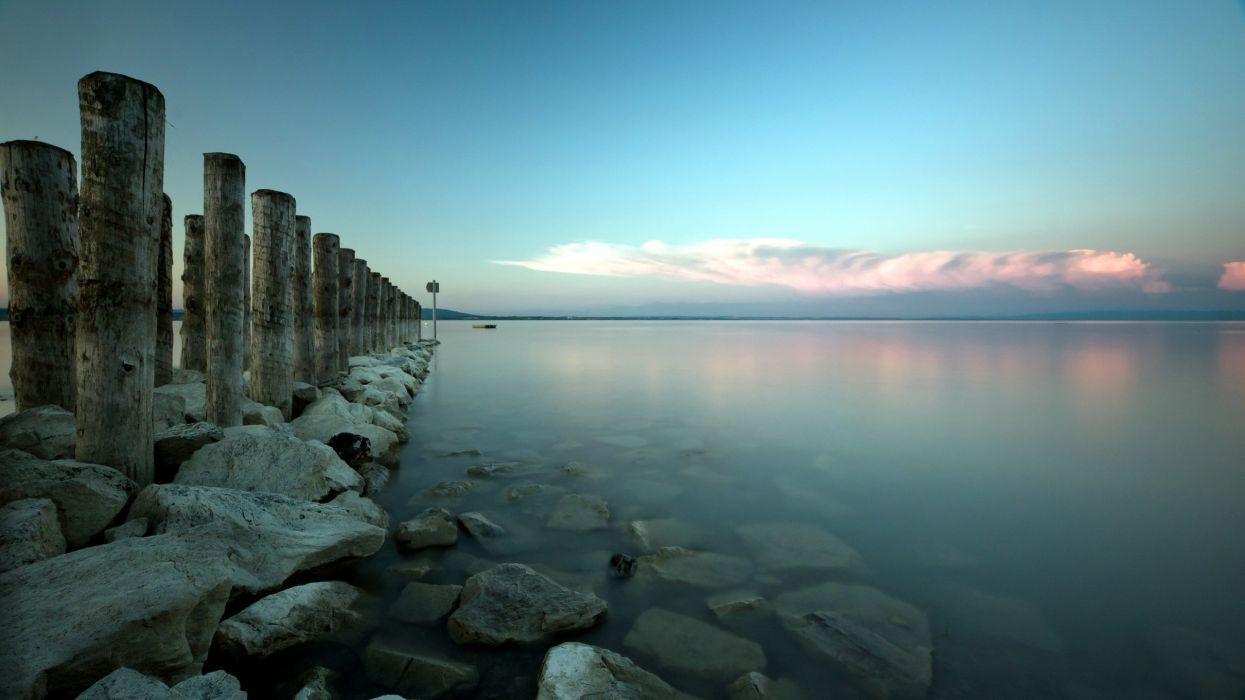 Ocean landscapes nature horizon sea pictures wallpaper
