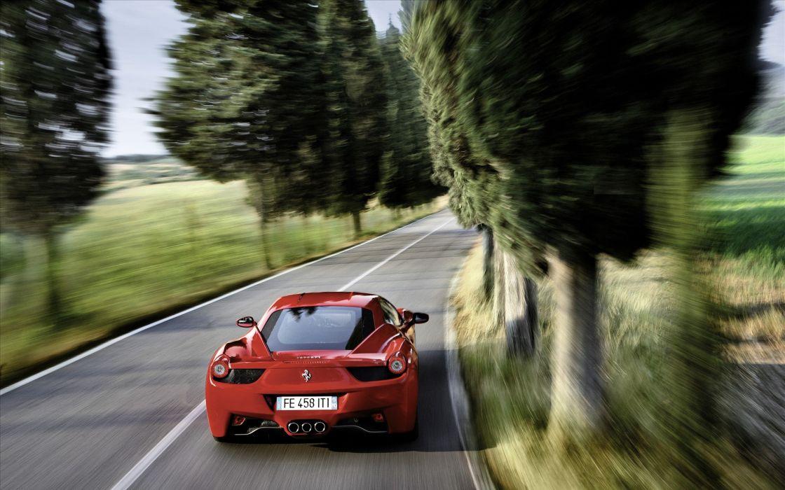 Cars ferrari roads vehicles ferrari 458 italia wallpaper