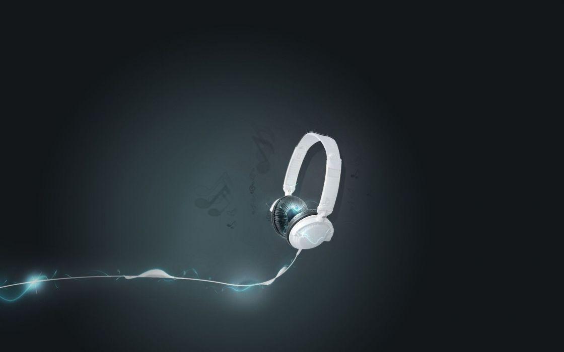 Light headphones glow wallpaper