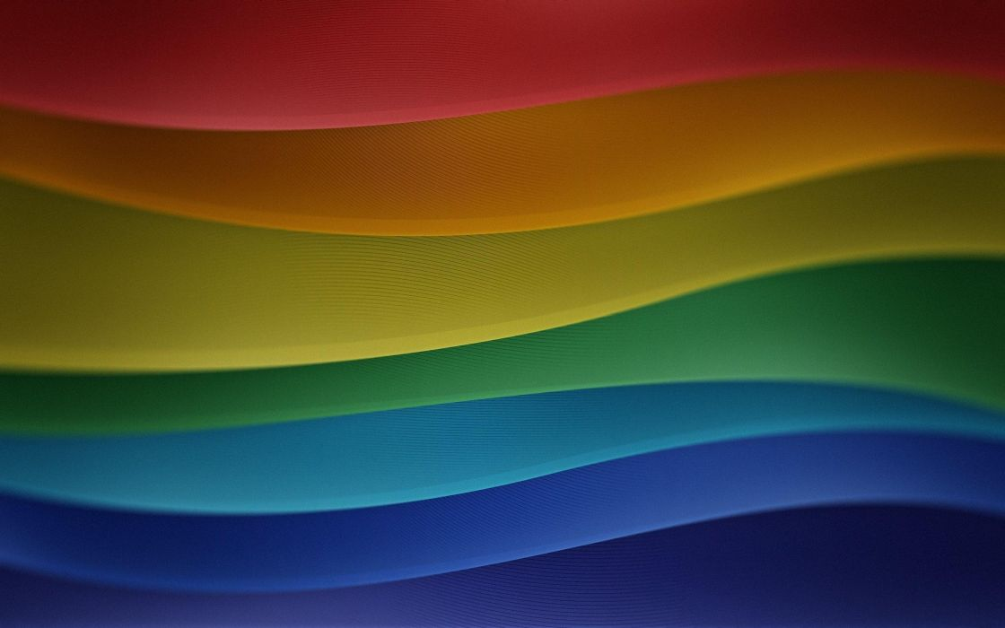Multicolor waves wallpaper