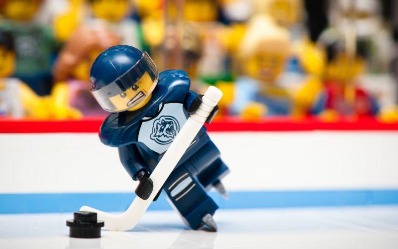 Lego sports funny hockey macro wallpaper