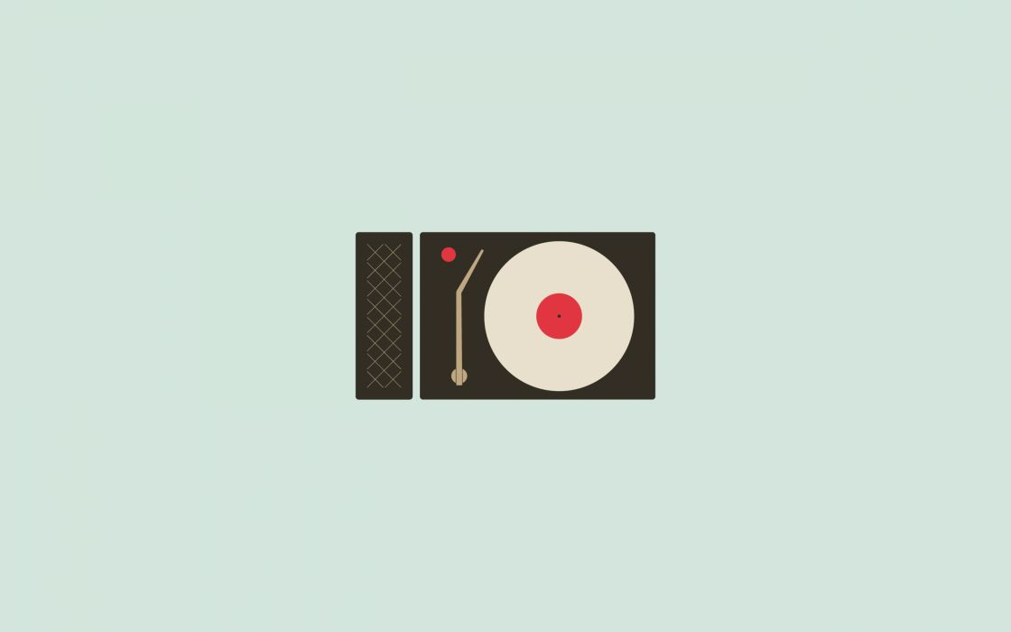 Minimalistic turntables wallpaper