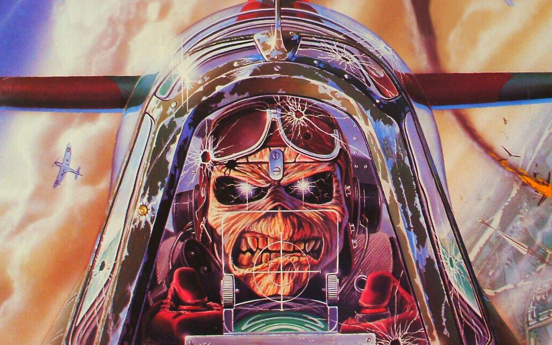 Iron maiden eddie the head music bands wallpaper