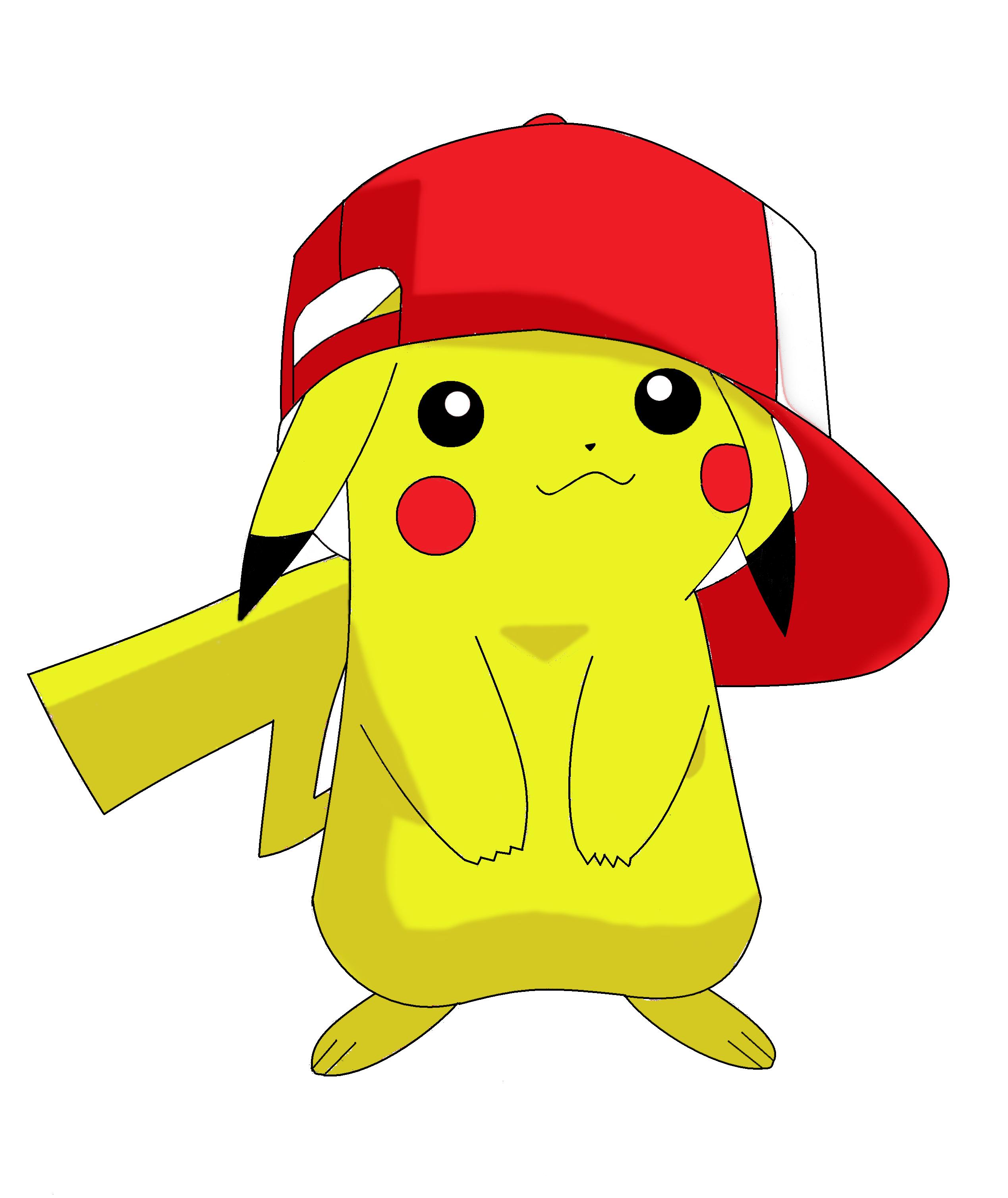 Pokemon Pikachu White Background