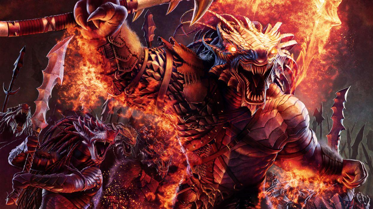 Concept art warriors dragonborn barbarians wallpaper