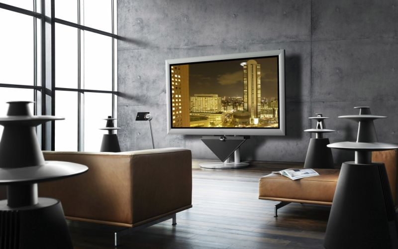 Tv couch home interior 3d wallpaper