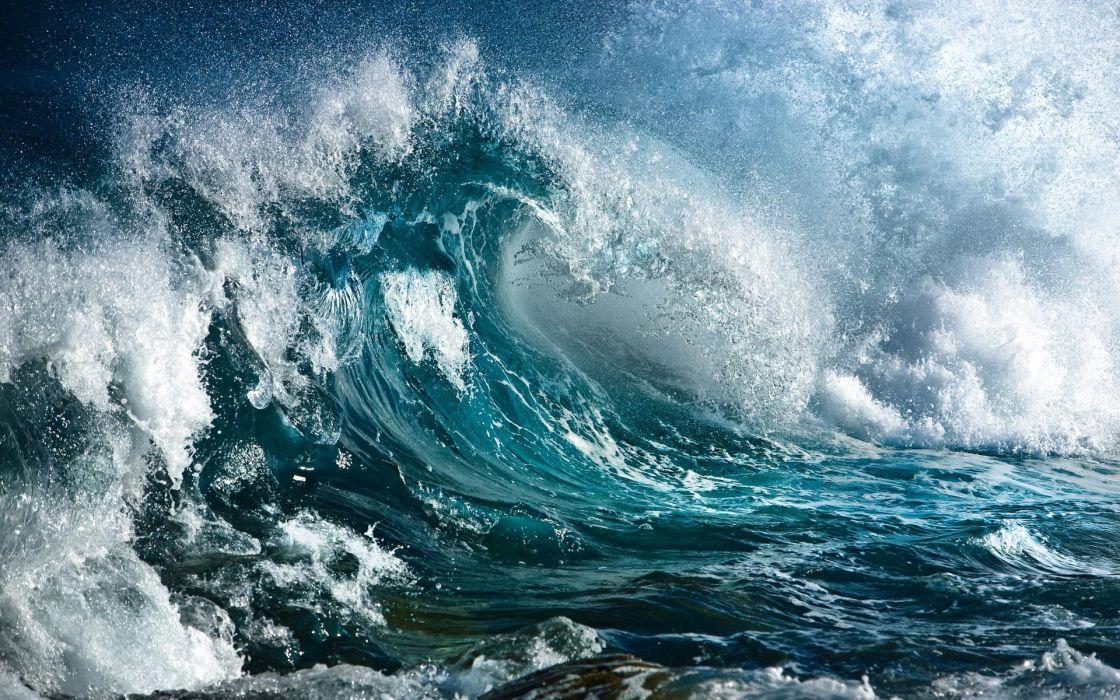 Blue dark waves wallpaper