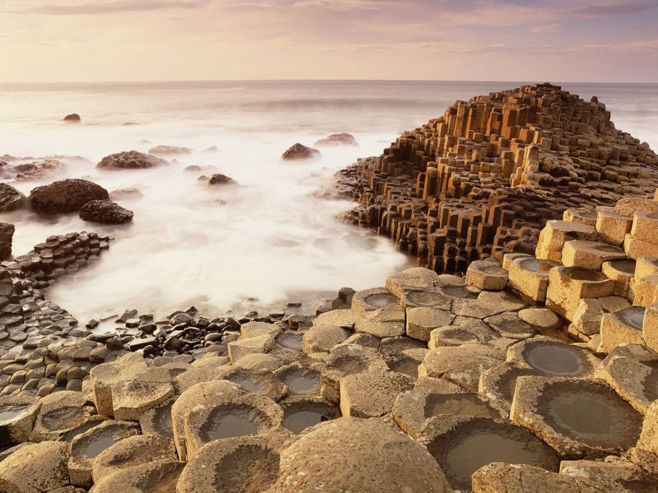 Nature ireland giant's causeway wallpaper