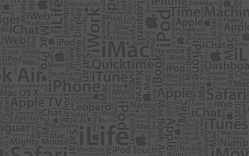 Minimalistic apple inc wallpaper