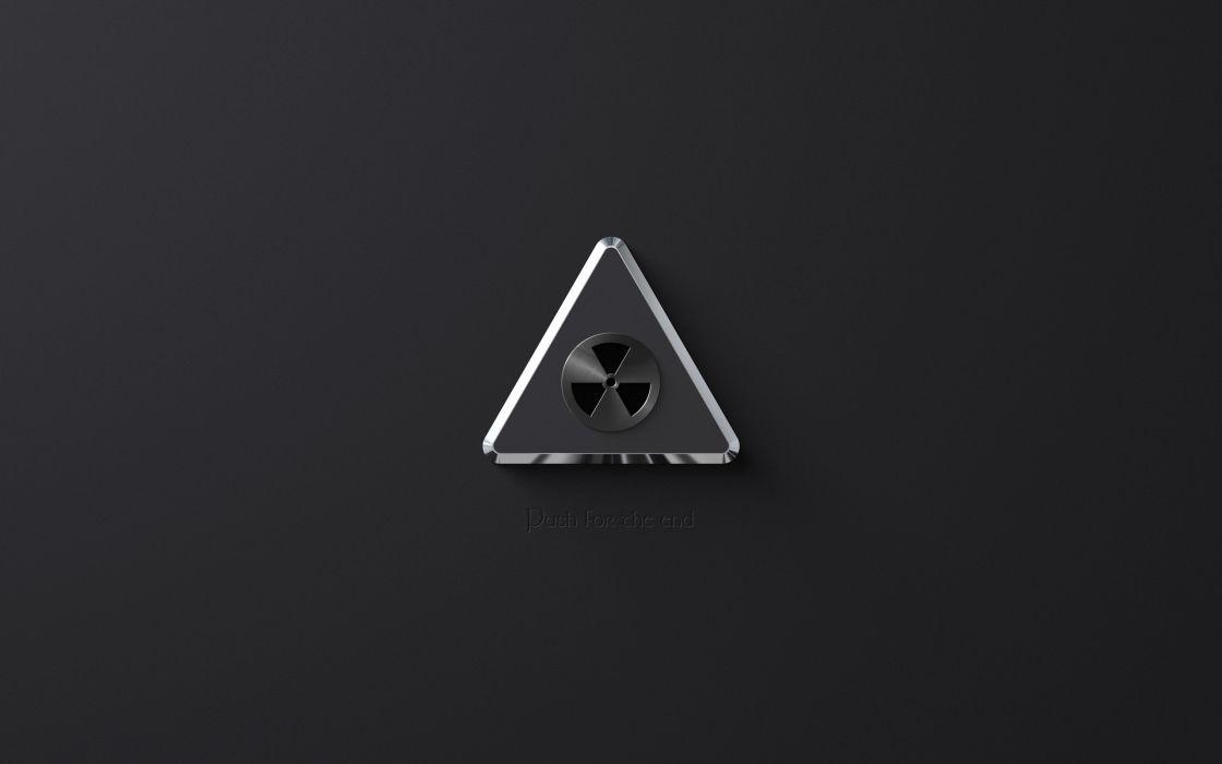 Minimalistic radioactive artwork sign wallpaper