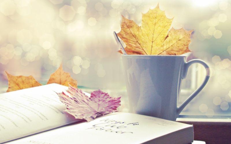 Leaves cups wallpaper