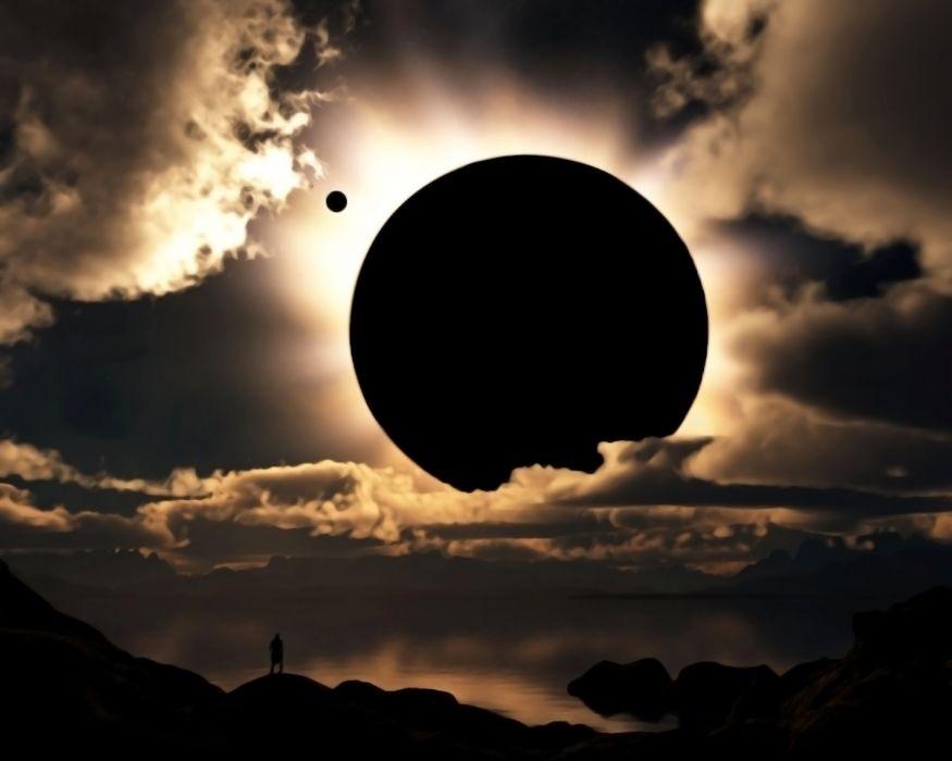 Eclipse digital art wallpaper