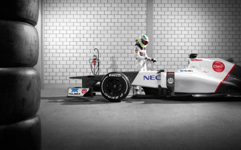 Formula one racer vehicles supercars garages racing sauber sergio perez wallpaper