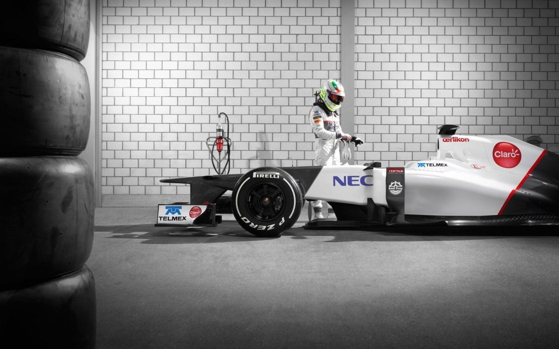 Formula one racer vehicles supercars garages racing sauber sergio perez wallpaper