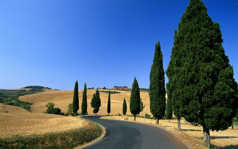 Landscapes italy roads wallpaper