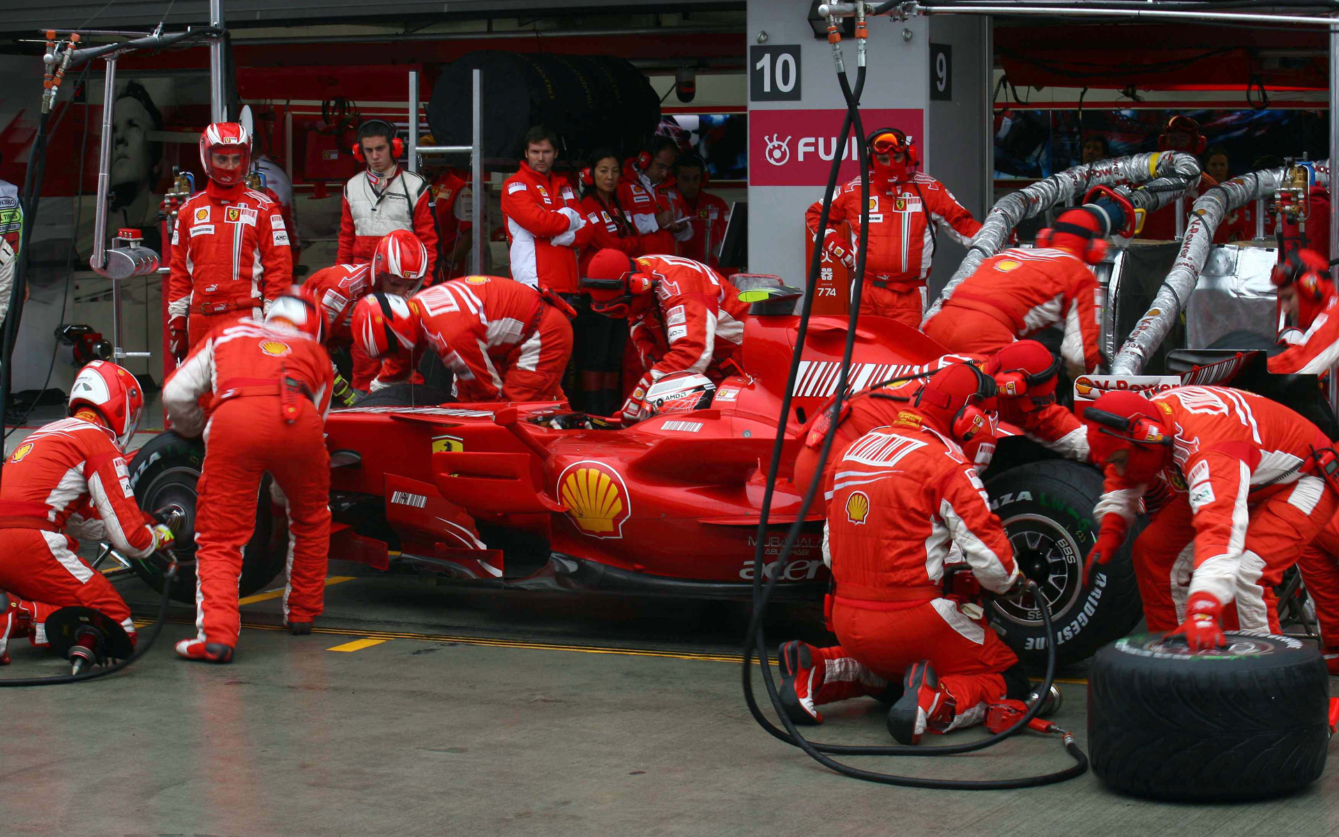 Mount Fuji Cars Ferrari Formula One Vehicles Iceman Kimi