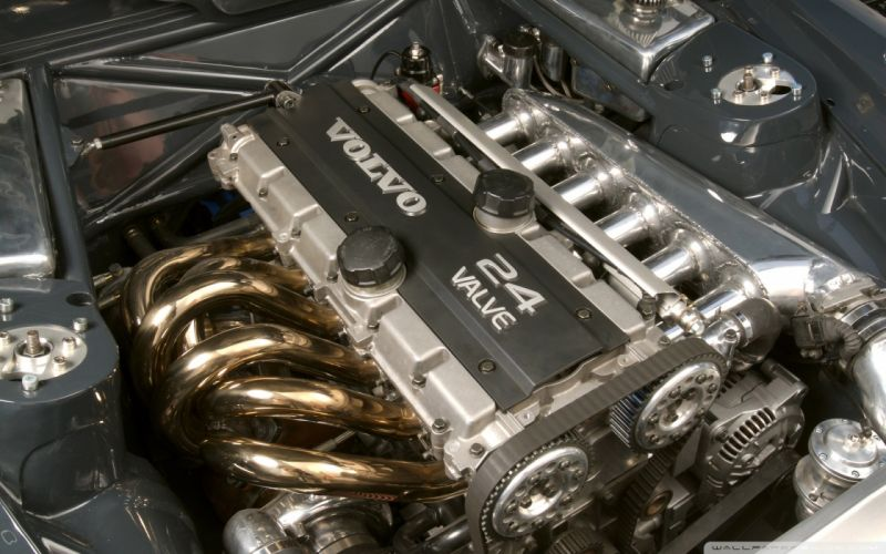 Engine volvo inline six cylinder engine turbocharged engine wallpaper