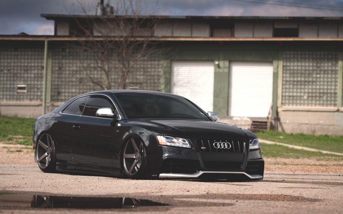 Cars audi garages black cars wallpaper