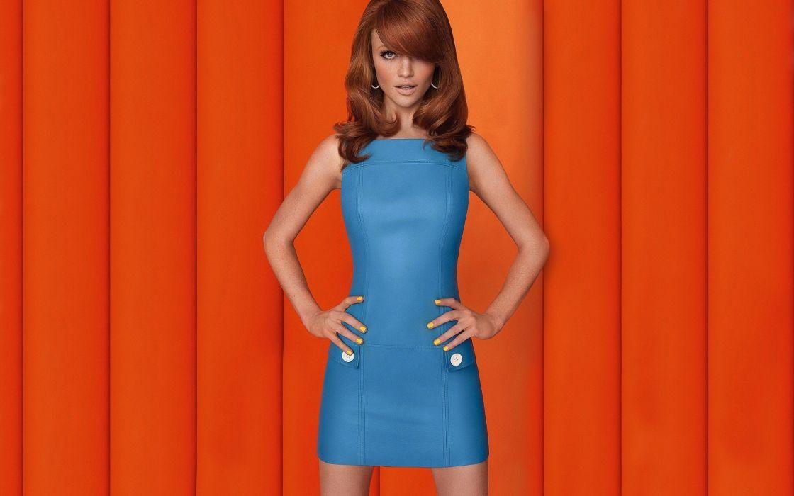 Women redheads models fashion freckles cintia dicker fashion model wallpaper