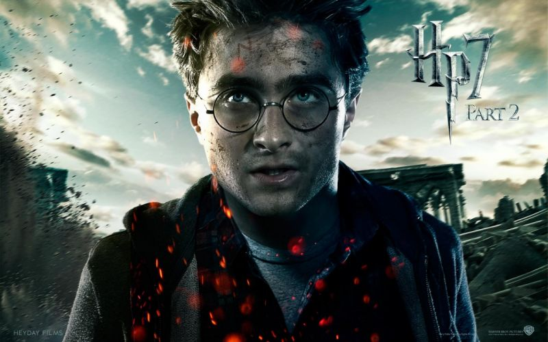 Fantasy movies film harry potter magic harry potter and the deathly hallows daniel radcliffe movie posters men with glasses wallpaper
