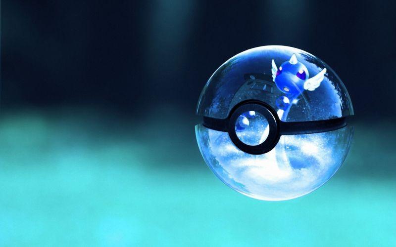 Pokemon glass poke balls glass art wallpaper