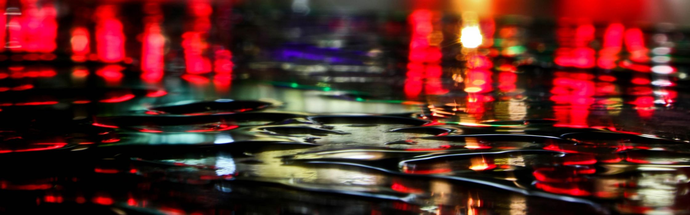 Urban water drops multiscreen wallpaper