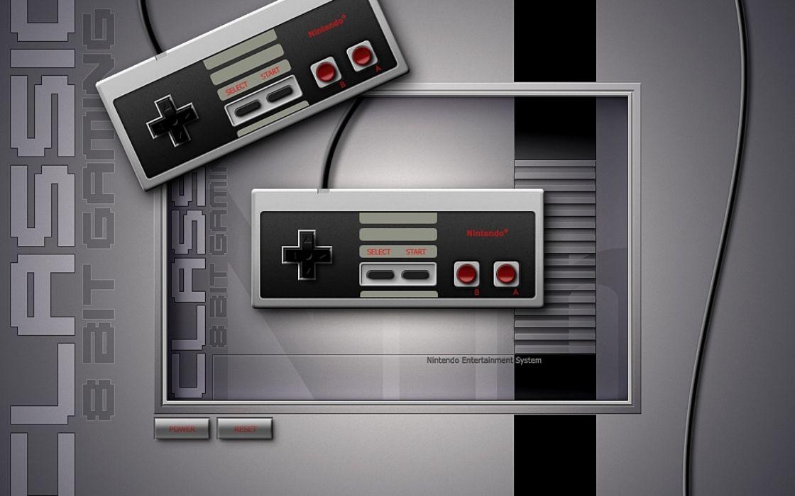 Nintendo video games old school gamepad controllers nes wallpaper