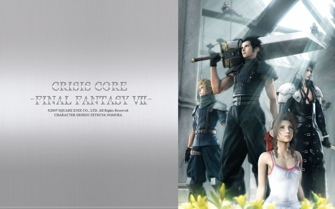 Final fantasy final fantasy vii sephiroth crisis core cloud strife zack fair aerith gainsborough wallpaper
