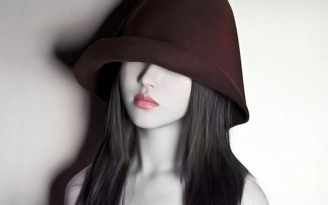 Models hooded wallpaper