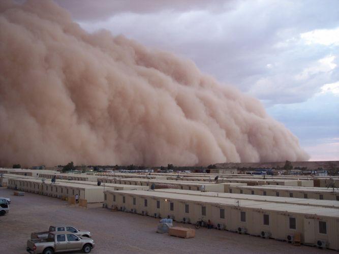 Sand desert storm dust wallpaper