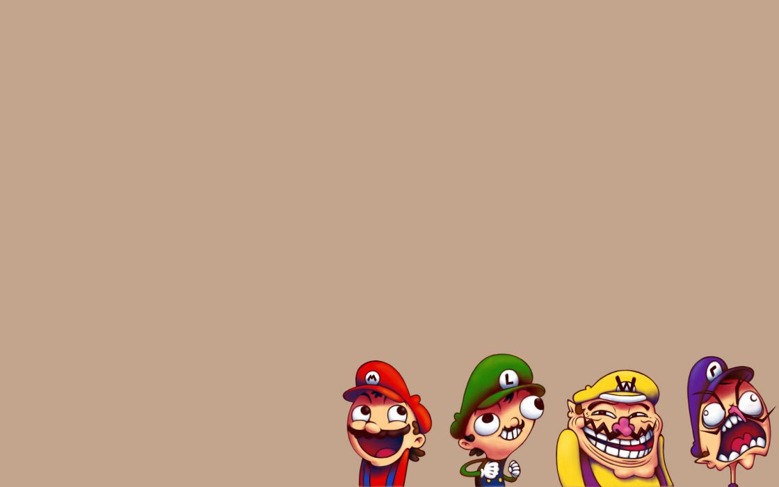 Mario faces wallpaper