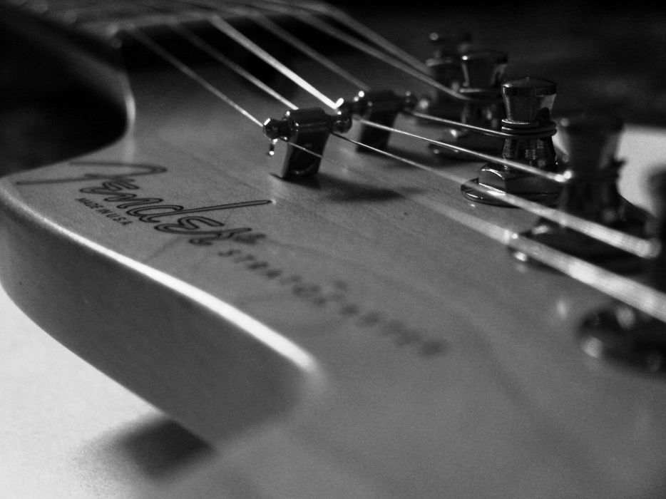 Grayscale guitars monochrome wallpaper
