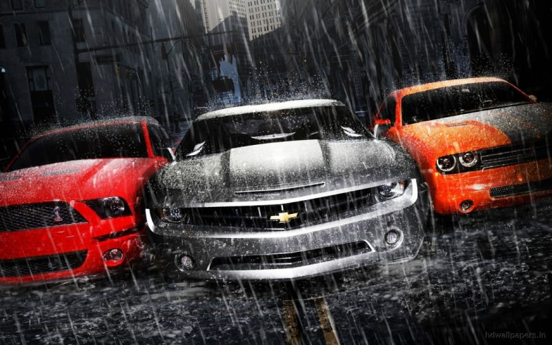 Cars dodge chevrolet camaro shelby mustang wallpaper