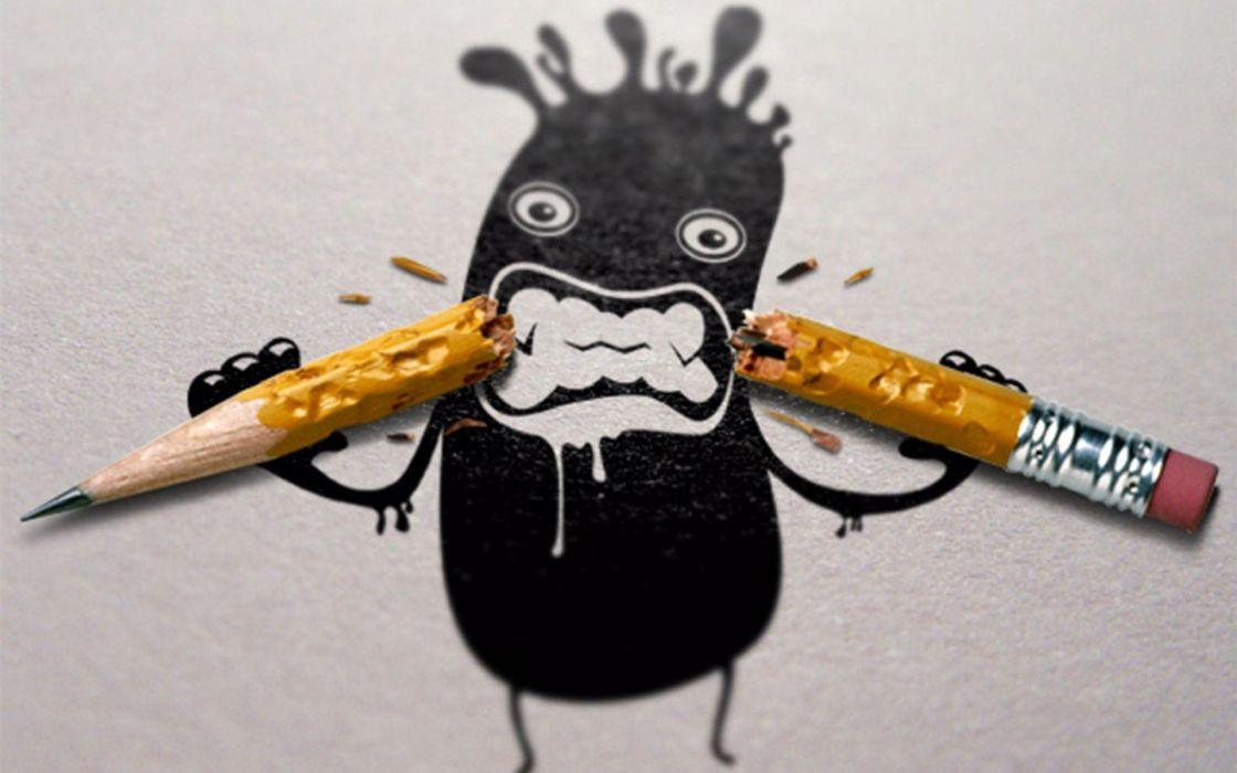 Humor funny artwork pencils wallpaper
