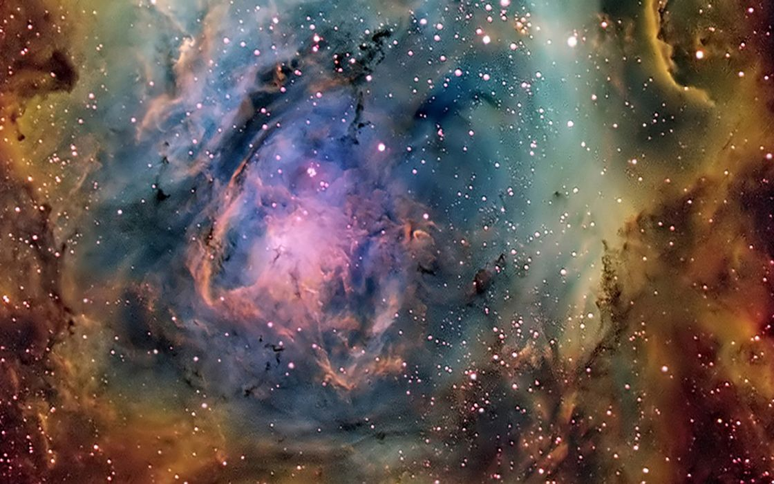Outer space stars nebulae the universe journey wallpaper