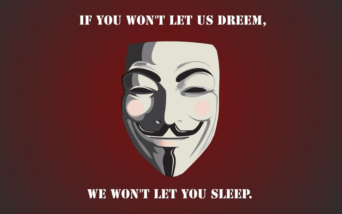 Anonymous text typography dreams revenge red background final wallpaper
