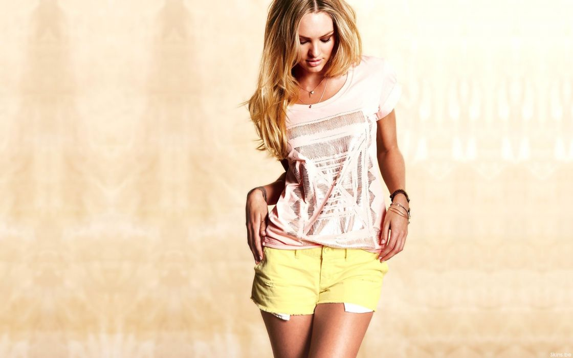 Blondes women models candice swanepoel shorts wallpaper