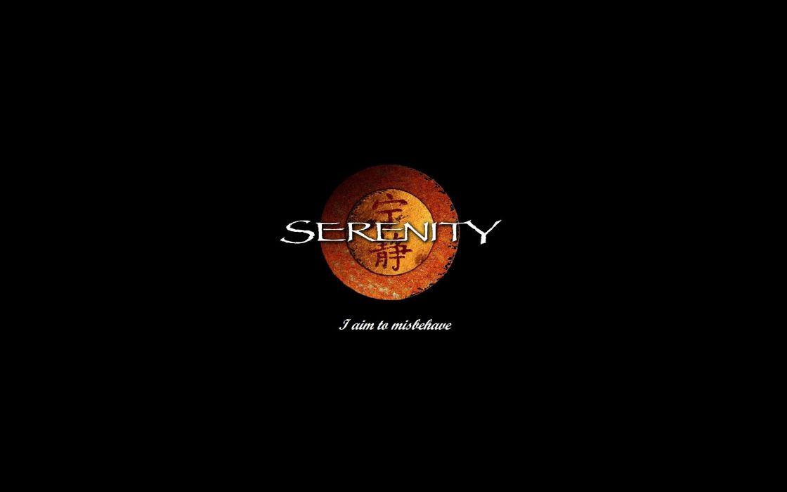 Serenity minimalistic movies text wallpaper