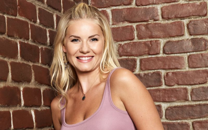 Blondes women elisha cuthbert actress brick wall wallpaper