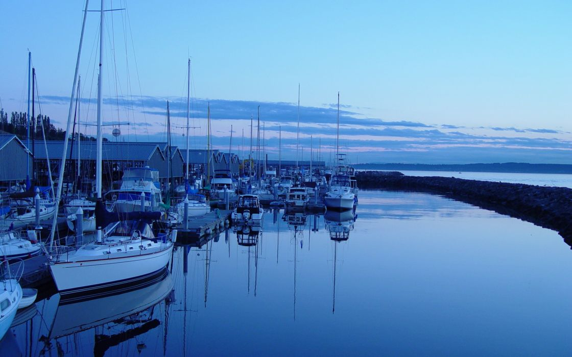 Water ocean landscapes dock ships calm vehicles wallpaper