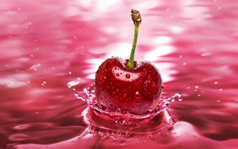 Fruits cherries wallpaper
