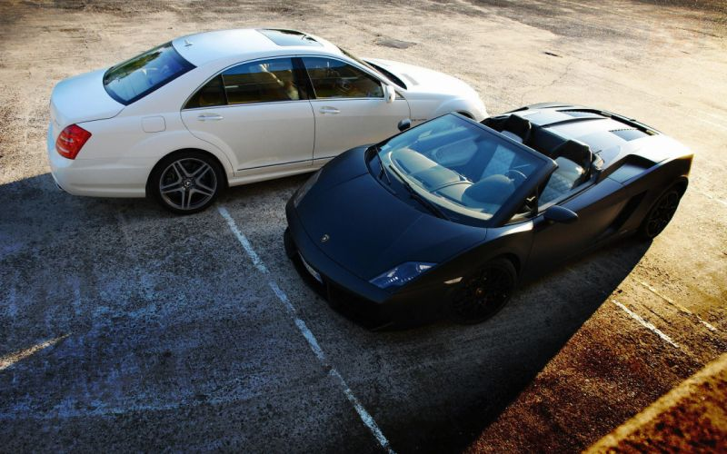 Cars lamborghini gallardo spyder mercedes s65 amg wallpaper