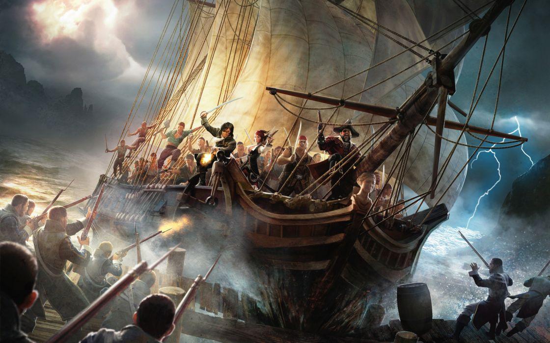 Ships pirates battleship risen risen 2 wallpaper